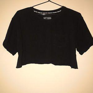 Victoria's Secret Sport Black Crop Top Size Medium